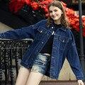 Женщины Базовая Пальто Boyfriend Стиль Весна Осень Джинсовый Жакет Женский Плюс Размер Бомбардировщик Куртка Женщин Винтаж Джинсовая Куртка C2620