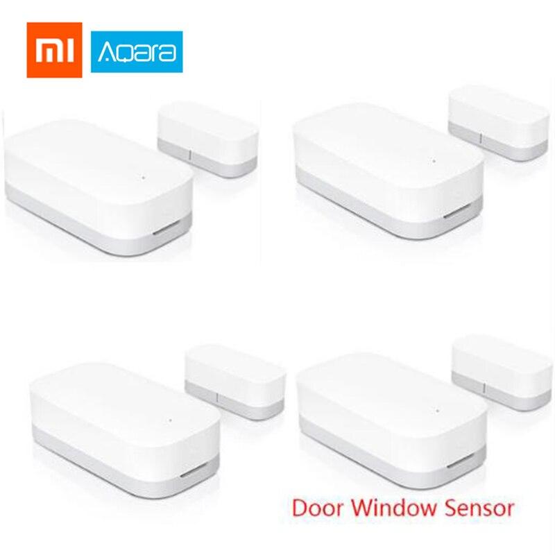 Original Xiaomi Aqara ventana inteligente Sensor de puerta inalámbrica ZigBee de seguridad de conexión equipo mi Sensor de puerta mi casa APP Control