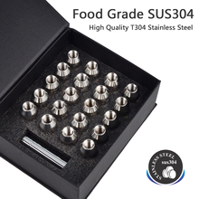 M12x1.5 Forged CNC T304  Stainless Steel Wheel Lug Nuts Bolts for Ford Car Accessorries High Quality Anti-Rust JDM