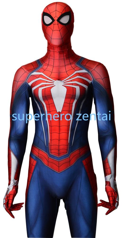 Здесь продается   PS4 Insomniac Spiderman Costume New Game Spiderman Cosplay Zentai Suit fullbody Spandex jumpsuit can custom Free Shipping  Одежда и аксессуары