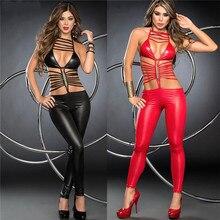 ملابس داخلية نسائية مثيرة مثيرة ملابس داخلية نسائية من اللاتكس ملابس داخلية مثيرة مصنوعة من الجلد الصناعي ملابس داخلية مثيرة باللون الأسود