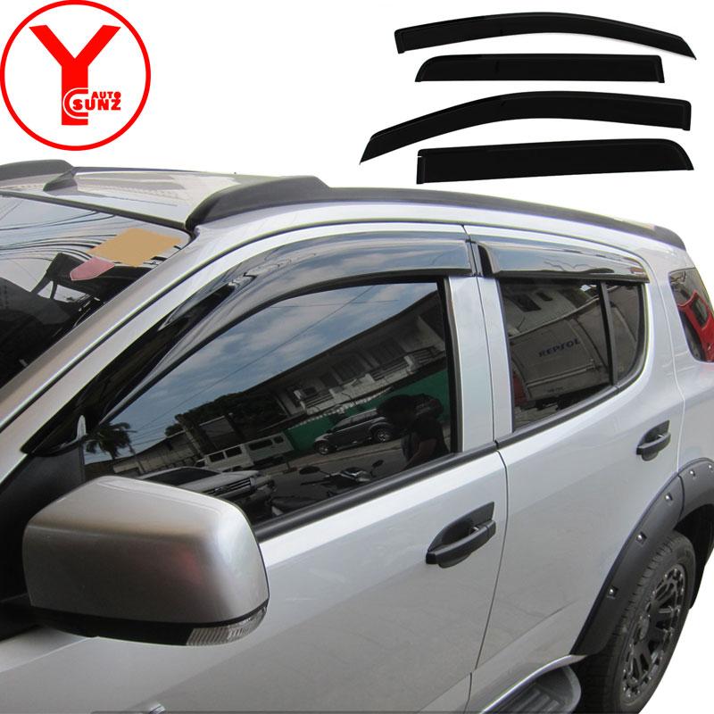 Fenêtre latérale visière pour Chevrolet trailblazer 2016 2017 2018 garde vent déflecteur accessoires de voiture pour chevrolet trailblazer YCSUNZ