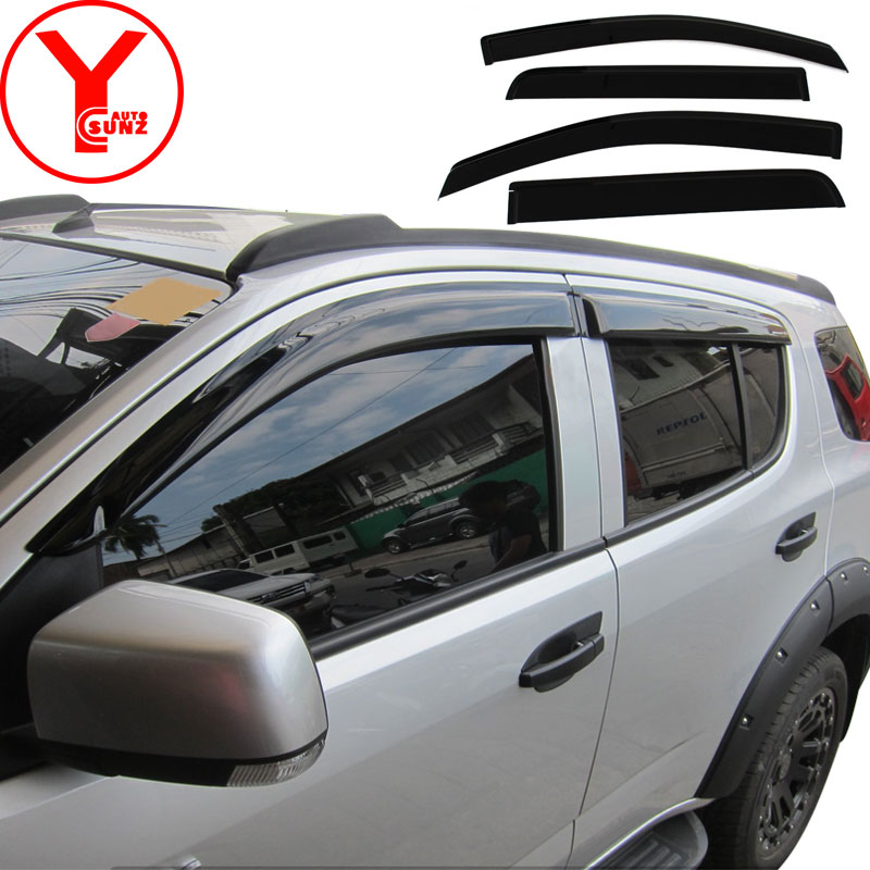 Pre-sale window visor, production in October. For Chevrolet trailblazer 2016 2017 2018 guard wind deflector accessories YCSUNZ 2016 2017 side window deflectors of accessories for toyota hilux pickup black car wind deflector window guard hilux visor ycsunz