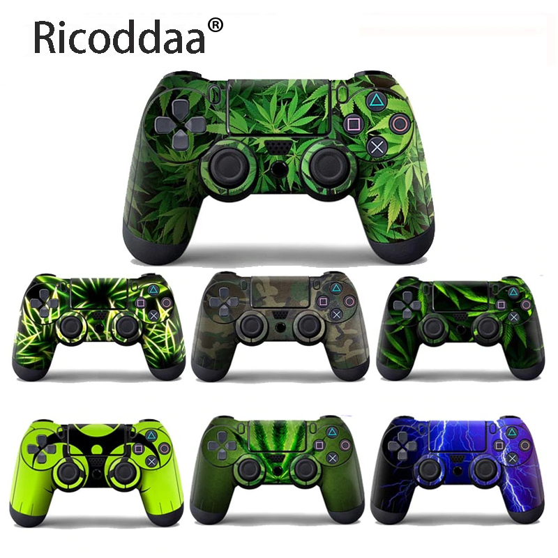 Customize Vinyl Skin Sticker For Sony Playstation 4 Controller Protective Cover Sticker For PS4 Gamepad Skin Decal Accessories image