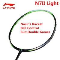 Li Ning n7ii свет профессиональный Ракетки для бадминтона Li Ning Насир; ракетка aypm212 внутри спортивные ракетки костюм двойной игроков l769