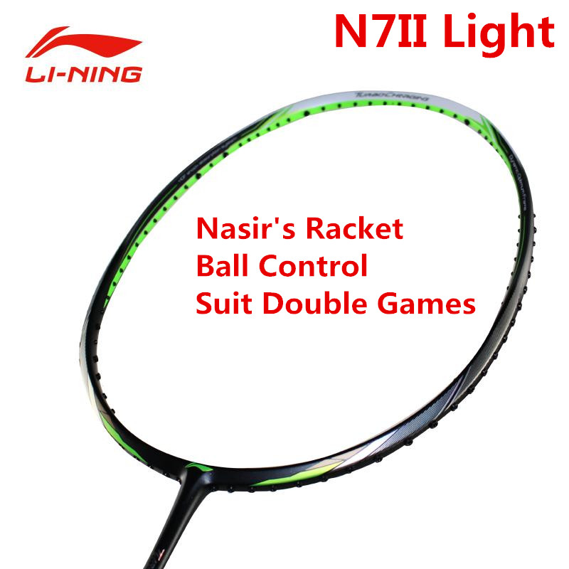 LiNing N7II Light Professional Badminton Rackets LiNing Nasir's Racquet AYPM212 Lining Sports Racket Suit Double Players L769OLC senseit p3