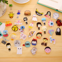 Packing Cartoon Food Personality Acrylic Pin Badge Clothes Badges Backpack Beautify Icons Shoes Package Icon CYTB001