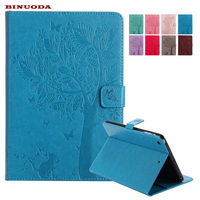 For Funda IPad Mini Case Luxury Retro Flower Flip Book PU Leather Stand Cover Cases For