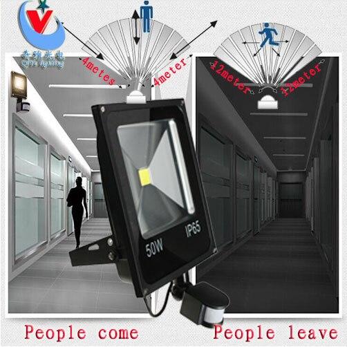 LED מבול אור PIR Motion חיישן האינדוקציה Sense 10 w 20 w 30 w 50 w 70 w 85- 265 v בלש חיישן מנורת LED זרקור