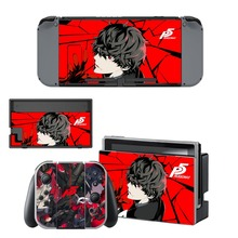 Nintend Switch Vinyl Skins Sticker For Nintendo Console and Controller Skin Set - Persona 5