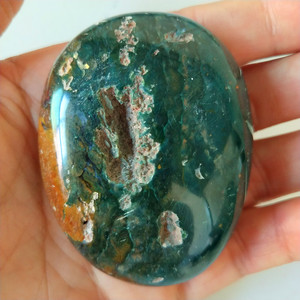 Image 5 - Natural stones sea jasper palm stones playthings small stones and crystals healing crystal