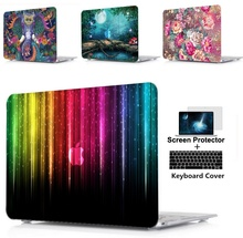 3IN1 laptop Hard Shell Case+Keyboard Cover For Apple Macbook Air 11 13 Pro Retina Touch Bar&ID 12 15inch A1990 A1989 A1932