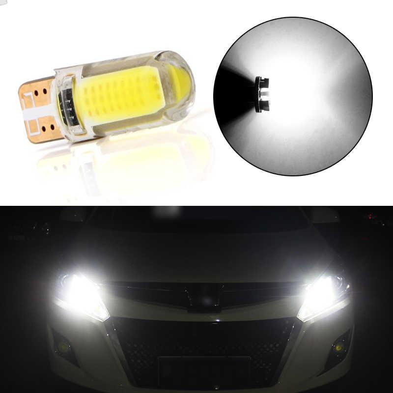Авто T10 W5W светодиодный лампы 194 501 12 светильник с чипами светодиодный силиконовый корпус автомобиля габаритные огни супер яркий силикагель Клин Включите стороне светильника
