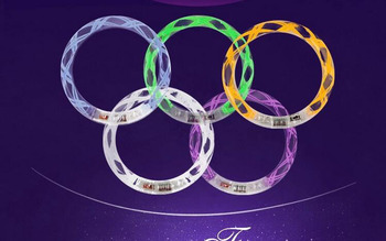 Concert luminous hand ring LED colorful acrylic transparent bubble bracelet bar KTV vocal support props Party noctilucent gift