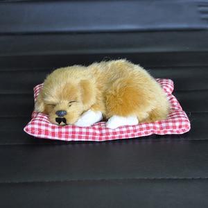Image 5 - Car Ornament ABS Plush Dogs Decoration Simulation Sleeping Dog Toy Automotive Dashboard Decor Ornaments Cute Auto Accessories