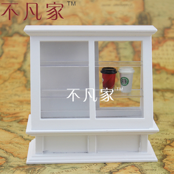 цена на Dollhouse fine 1/12 scale miniature furniture handcrafted white cake cabinet