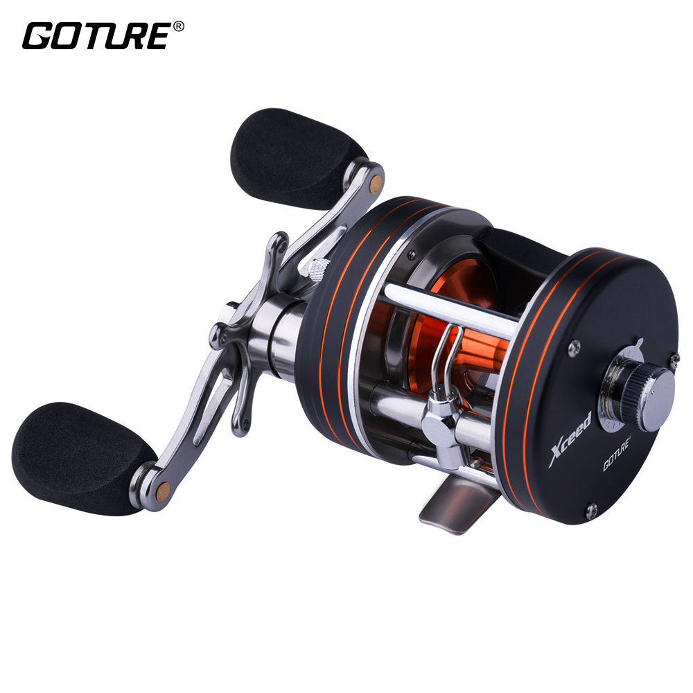 Goture Xceed Trolling Fishing Reel 11BB Round Baitcasting Reel Coil 8KG Max Drag Right/Left Hand Sea Fishing EquipmentGoture Xceed Trolling Fishing Reel 11BB Round Baitcasting Reel Coil 8KG Max Drag Right/Left Hand Sea Fishing Equipment