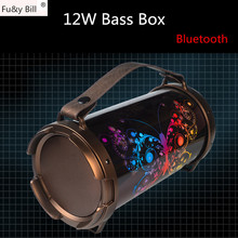 Fu&y Bill 2018 New Ideas  Portable Outdoor Portable Sound Support SD Card USB Radio  Wireless Bluetooth Bass Box