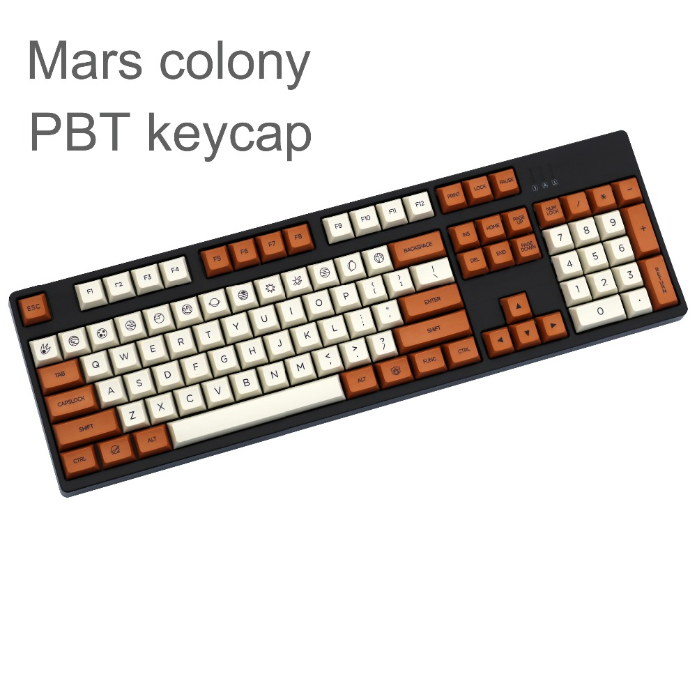Mars Colony XDAS Profile Keycap 121/163 Dye Sublimated Filco/DUCK/Ikbc MX Switch Mechanical Keyboard Keycap,Only Sell Keycaps