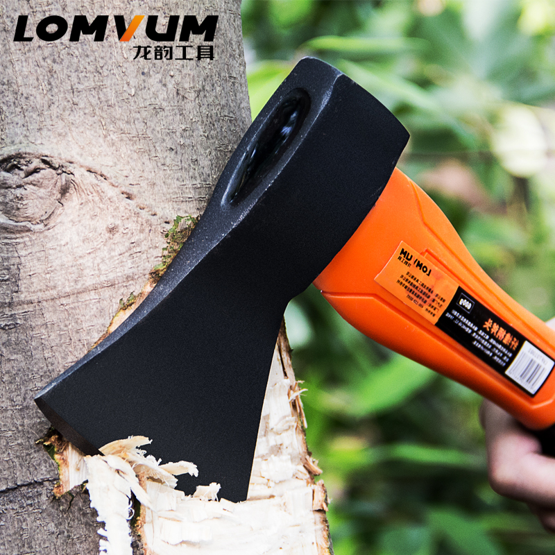 LOMVUM High Quality Fiber Handle Axe Outdoor Hunting Camping Survival Machete <font><b>Axes</b></font> Hand <font><b>Tool</b></font> Machadinha Practical Axe image