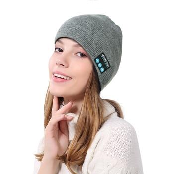 2018 Men Women Novelty Bluetooth Wireless Warm Beanie Hat Handsfree Music Cap Headphone Headset xmas Five Colors