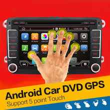 Quad Core Android 4.4 car dvd player gps 2Din 7 Inch For Volkswagen VW Skoda POLO PASSAT B6 CC TIGUAN GOLF 5 Fabia Wifi Cam 1080