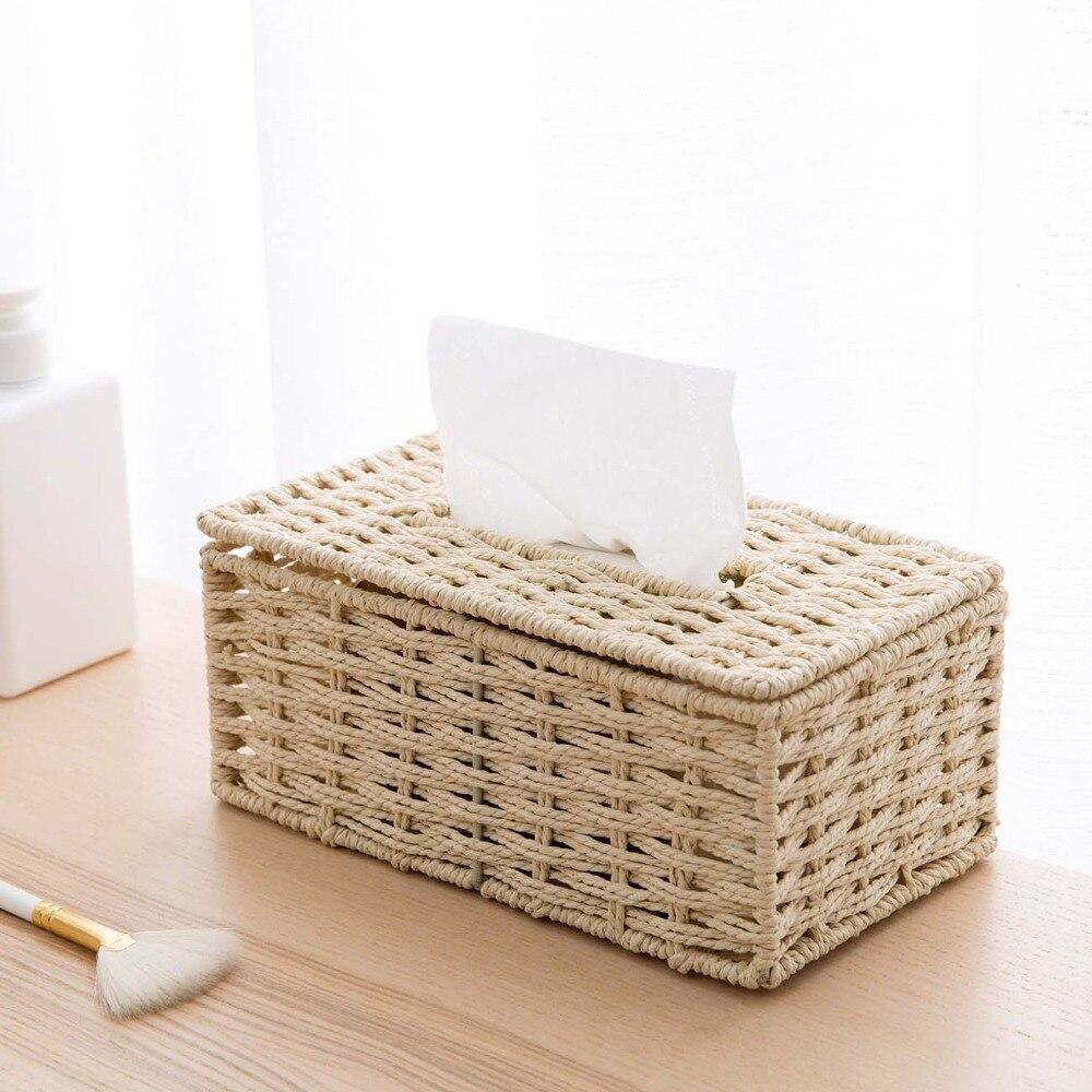 Винтажный держатель для салфеток из ротанга OTHERHOUSE, чехол для салфеток, держатель для салфеток, контейнер для хранения, покрытие для гостиной, украшение стола