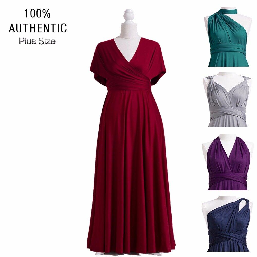 Chiffon Infinity Dress: Burgundy Bridesmaid Dress Multiway Plus Long Dress