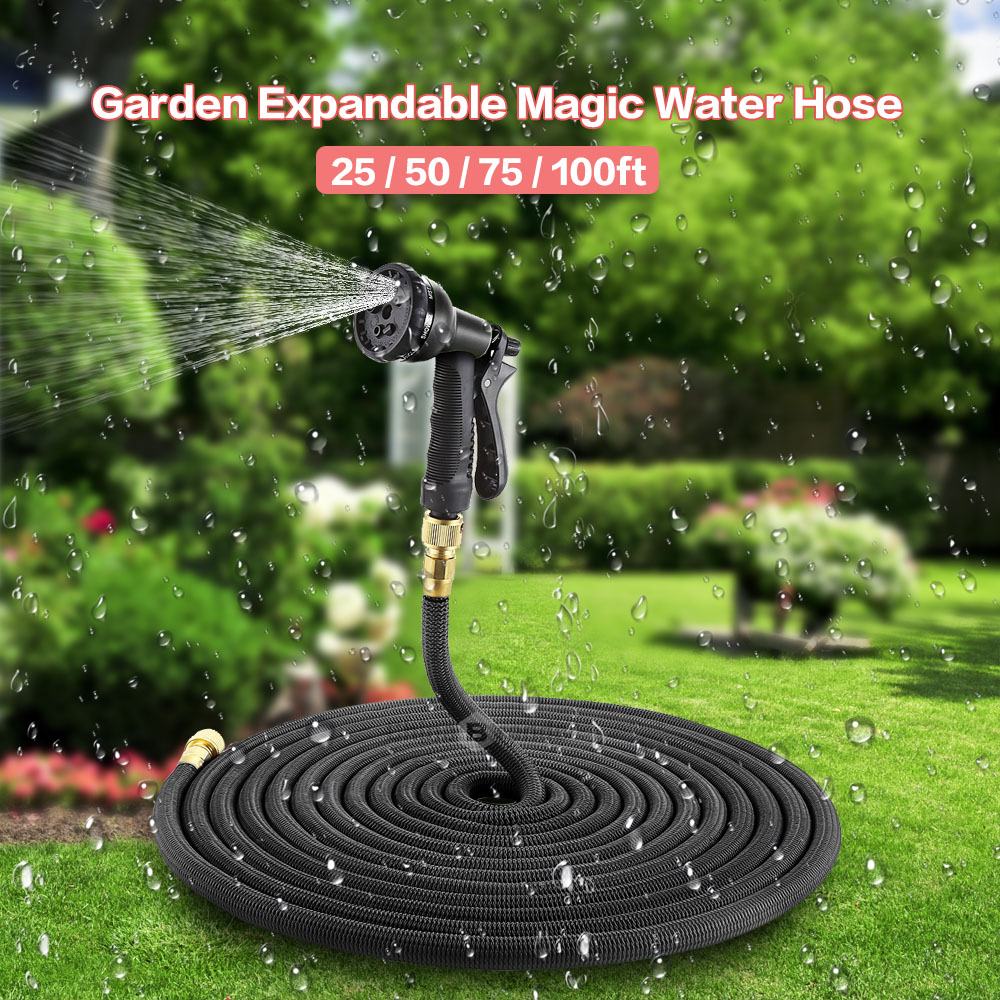 4 Colors 25ft 75ft Garden Hose Expandable Magic Flexible
