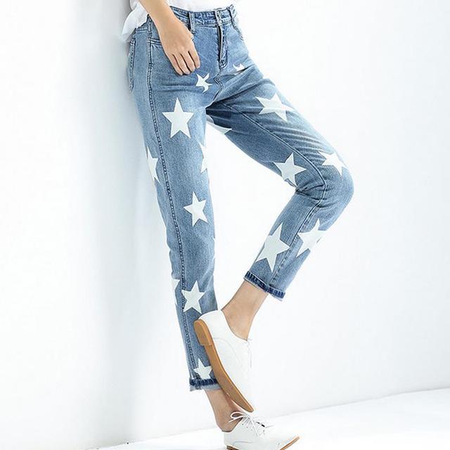 jeans women plus size harem Denim pants ladies fashion star pattern jeans  high quality trousers a7a1fc14798b
