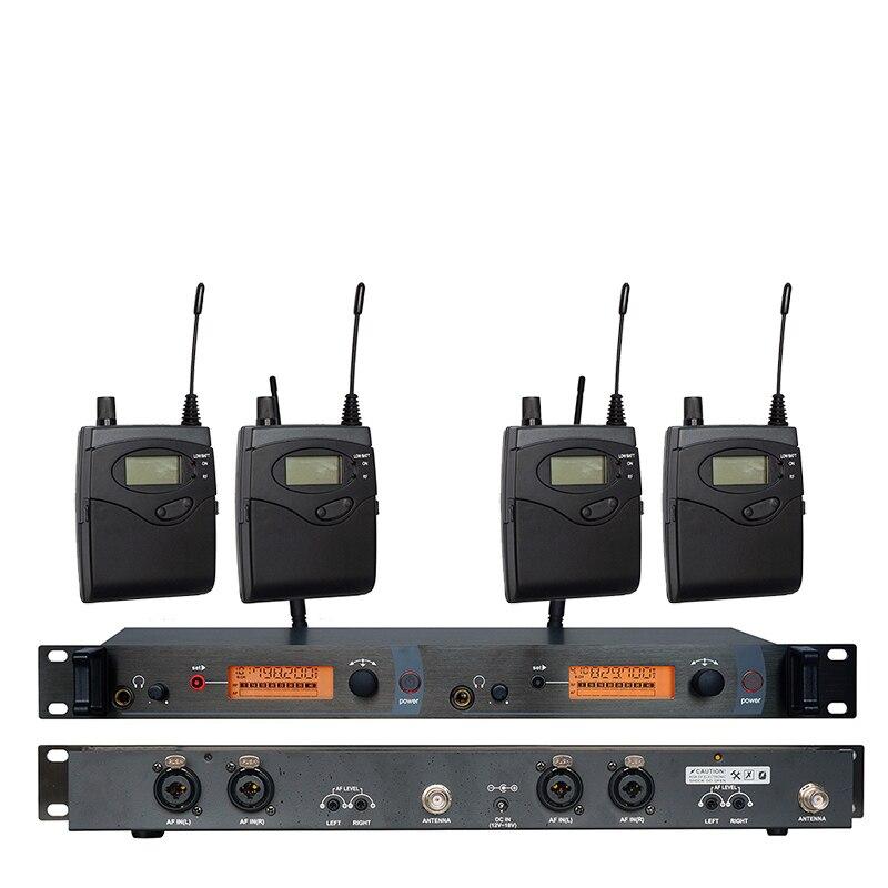 Moniteur auriculaire système sans fil SR2050 Double transmetteur surveillance professionnel pour scène Performance 4 récepteurs