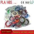 28 cores ou 20 cores/set material de Impressora 3D ABS/PLA Filament 1.75mm de Plástico de Borracha de Materiais Consumíveis caneta 3d Filamento empate