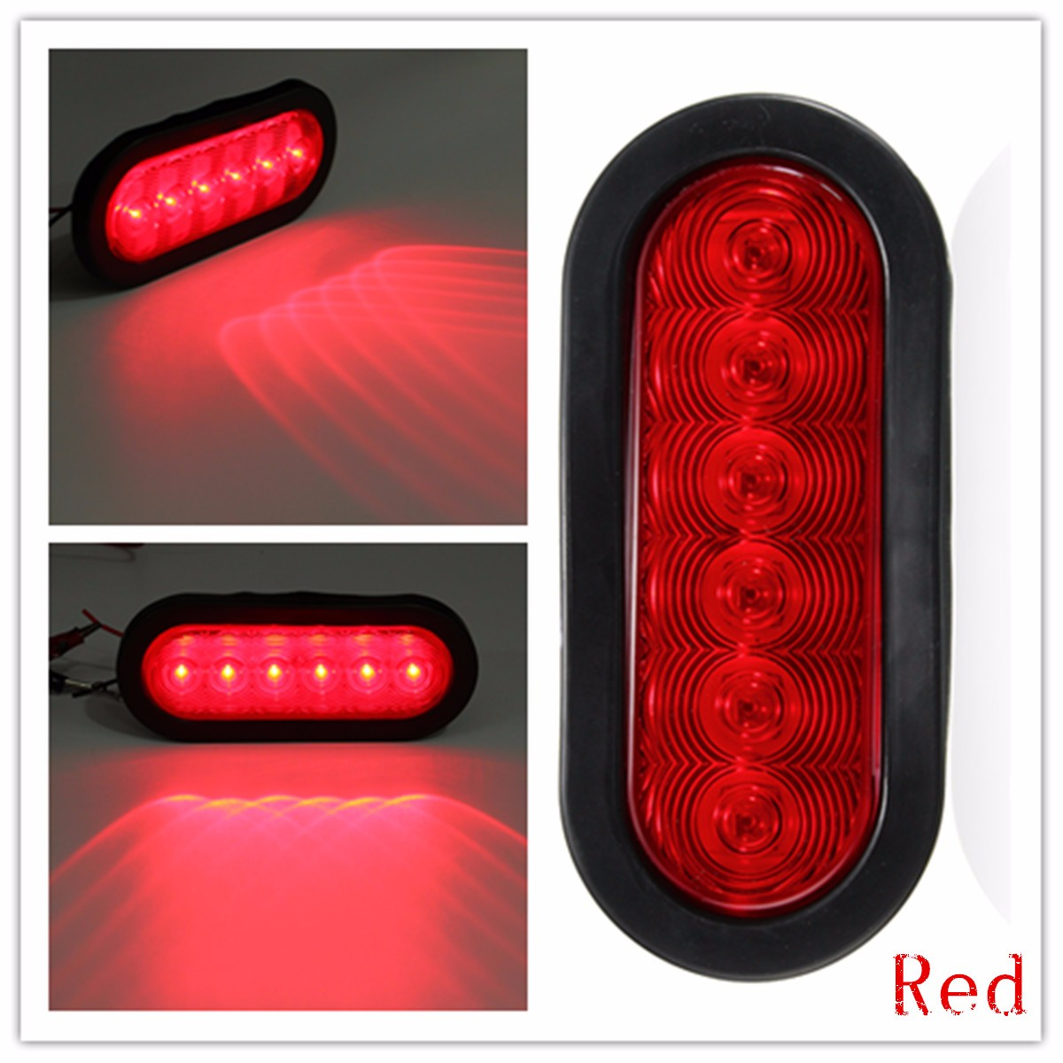1pcs Oval Oblong Turn Tail Light Led Stop Sealed Surface Mount Also Trailer Lights Along With Wiring Truck Red White Yellow In System From Automobiles Motorcycles On