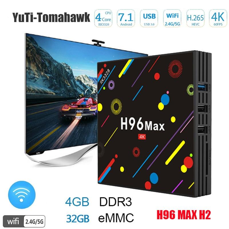 BM 4G 32G H96 Max H2 Android 7.1 TV Box RK3328 Quad Core 4K Smart Tv VP9 HDR10 USB3.0 WiFi Bluetooth 4.0 Media Player h96 max h2 4g 32g tv box android 7 1 rk3328 quad core set top box support 2 4g 5g wifi bt4 0 usb3 0 hdr10 4k vp9 media player