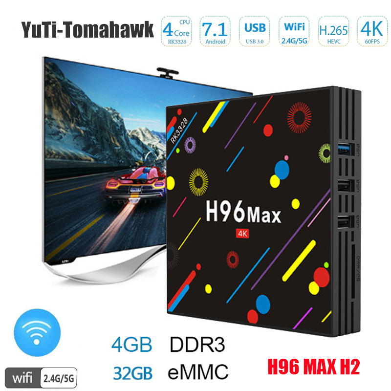BM MINI PC 4G 32G H96 Max H2 Android 7.1 TV Box RK3328 Quad Core 4K Smart Tv VP9 HDR10 USB3.0 WiFi Bluetooth 4.0 Media Player