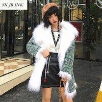 New Fashion Women Reversible Fur Garment Coat Top Quality Winter Thick Warm Plus Size Faux Fox