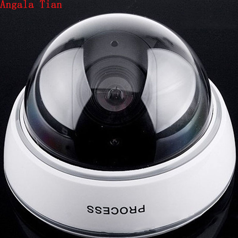 Angala Tian High Quality Home Security Dummy Wireless Fake Camera LED Surveillance Camera Support Motion Detection-Black & White