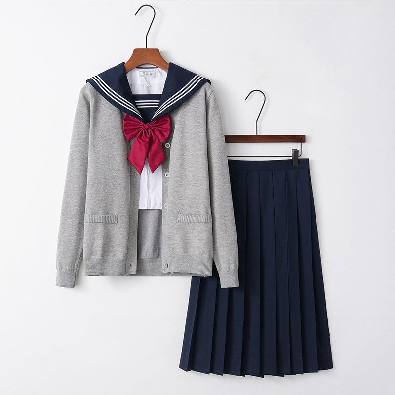 UPHYD New Arrival Japanese School Uniform For Girls Kawaii Lolita Sailor Uniforms Cosplay Costumes Sweater Set