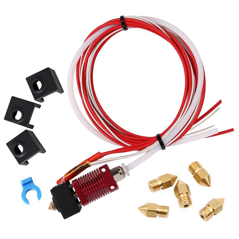 Assembled Mk10 Extruder Hot End Kit Replacement Parts For Creality Cr-10 Cr-10S S4 S5 3D Printer, 1.75Mm Filament, 0.4Mm Nozzl