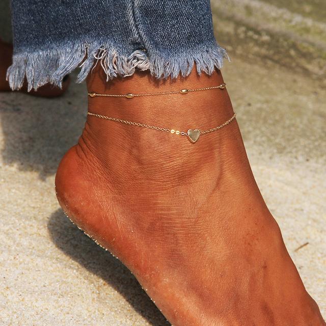 Heart New Leg Chain Anklets For Women