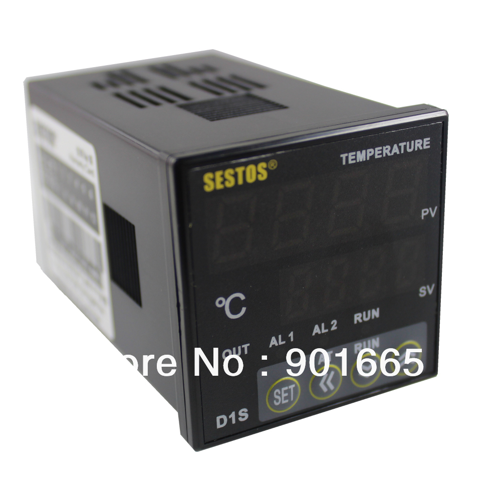 цена на Sestos Dual Digital Pid Temperature Controller 2 Omron Relay Output Black D1S-2R-220