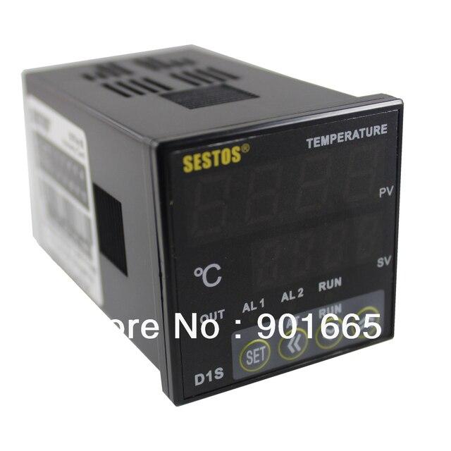 Sestos Двойной цифровой pid регулятор температуры 2 Omron Реле Выход Черный D1S-2R-220