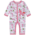 y343Long-legged long-sleeved Romper climbing clothes autumn children's clothing female baby pink a leotard fairy unicorn pattern