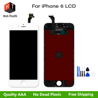 Hot Truth 10Pcs Lot LCD Assembly For IPhone 6 Display Touch Screen Digitizer Replacement AAA Quality