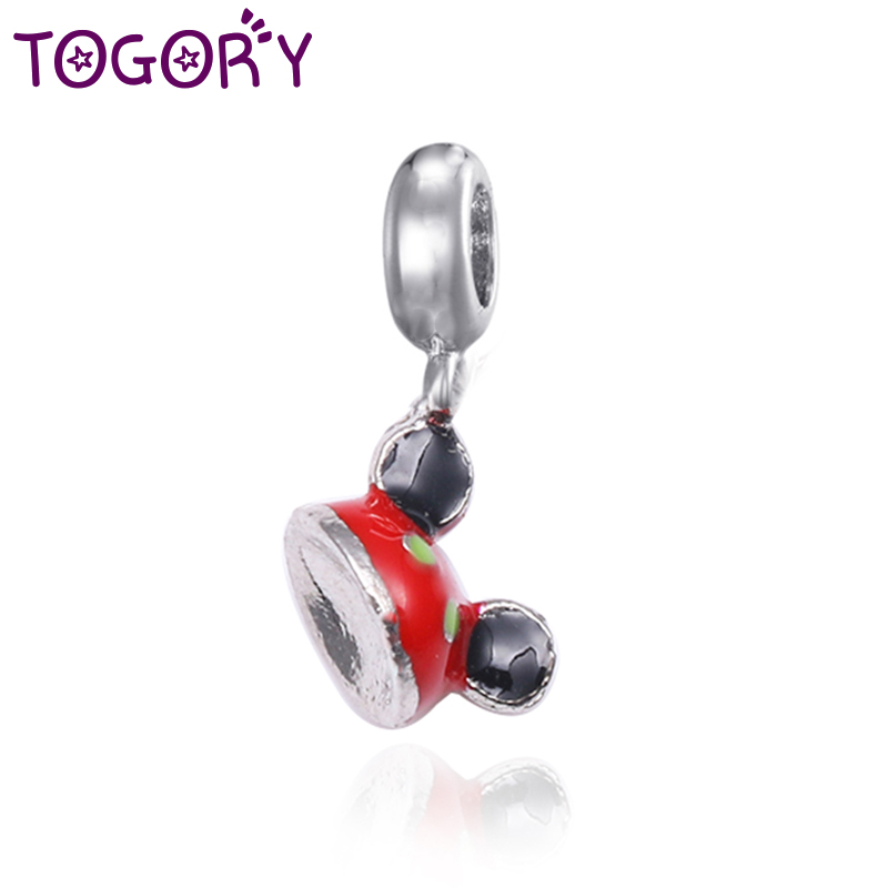 Fasteners & Hooks Togory 2pcs/lot European Silver Plated Cartoon Charm Openwork Hat Beads Fit Original Pandora Bracelet Bangle Diy Jewelry Making Attractive Appearance