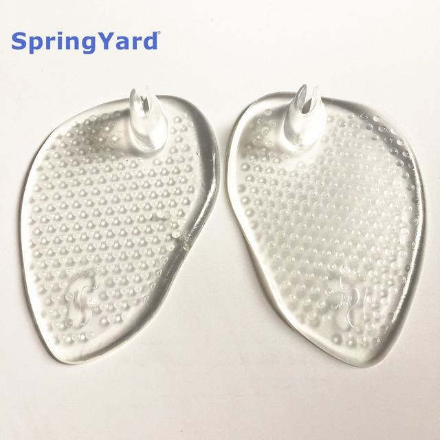 (2 pairs/lot) Gel Anti-Slip Self-adhensive Forefoot Pad with Thong for Slippers Flip-Flops Foot Care Insoles