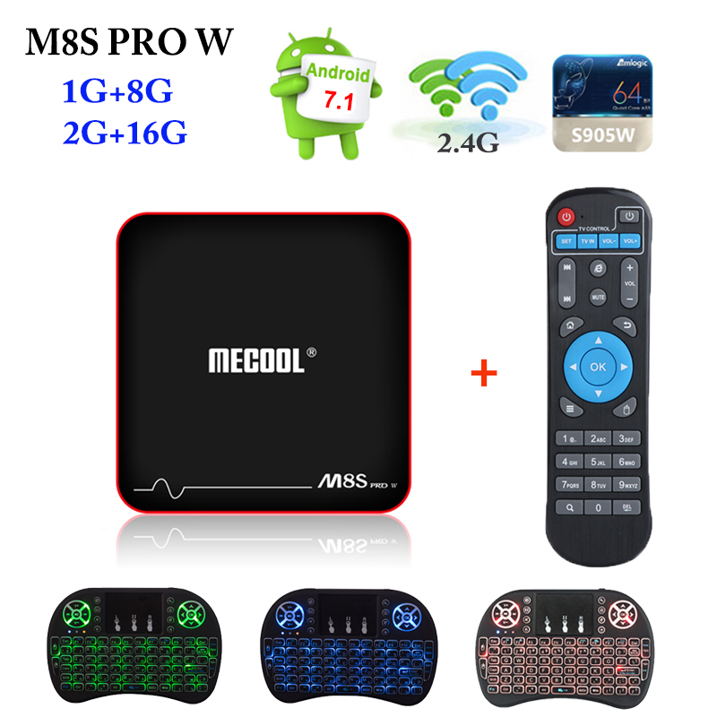 Android 7.1 Smart TV box Mecool M8S PRO W Amlogic S905W CPU TV box 2.4G Wifi 1/2gb 8/16GB with Voice Control Set Top Box PK x96