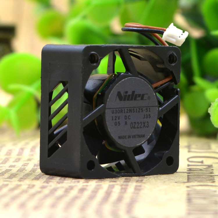 for Nidec U30R12NS1Z5-51 3cm 30x30x15mm DC 12V 0.05A 3cm Micro Projector Mini Cooling Fan