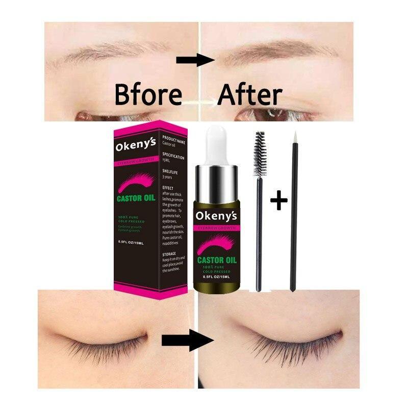 f3652a96317 15ml Natural Castor Eyelash Oil Eyelashes Eyebrow Growth Prevent Skin Aging  Castor Organic Serum Mascara ~ Free Delivery July 2019
