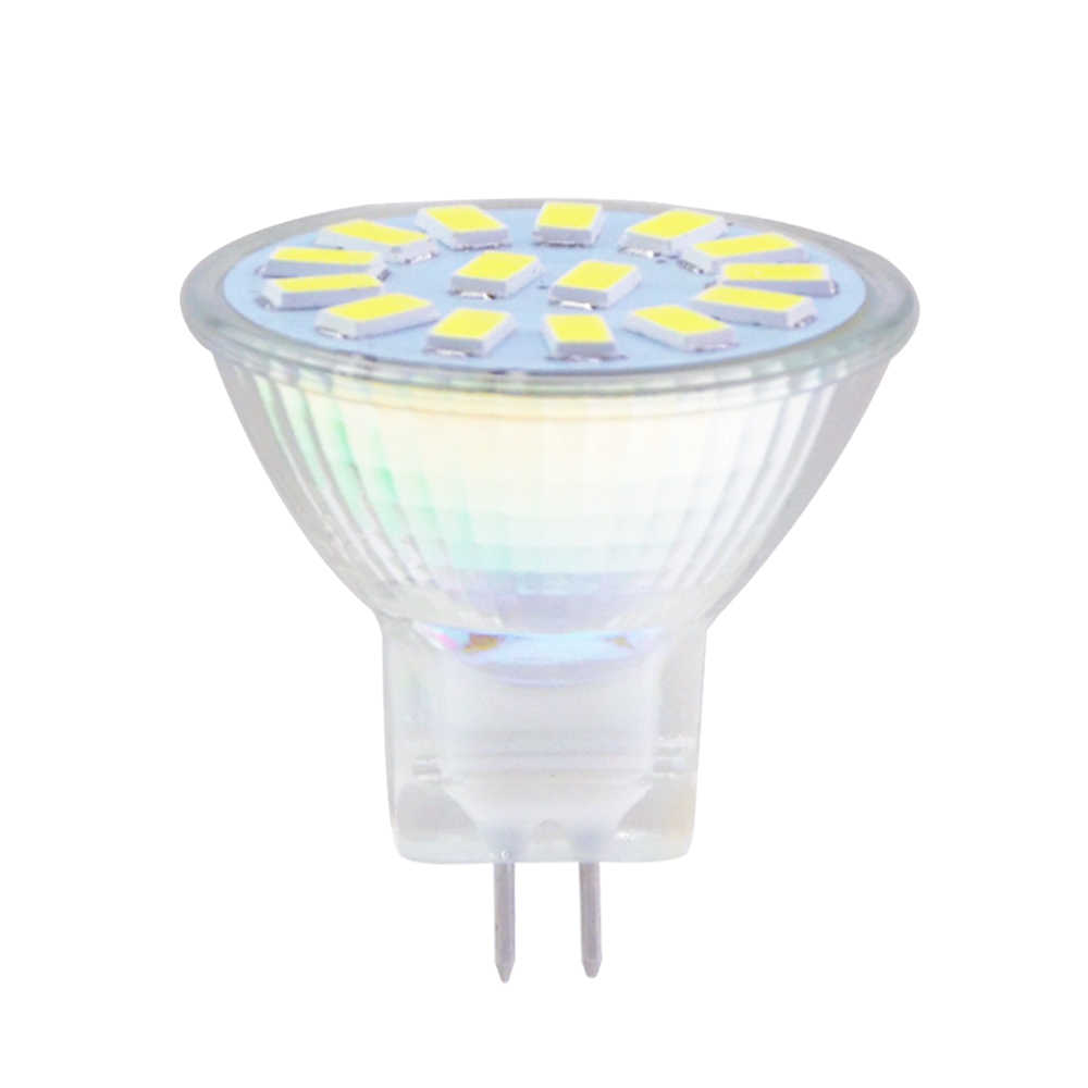 NEW MR11 Led Bulb light 5730 SMD 9 Leds 2W Lampada 12Leds 3W Lamp 15Leds 5W GU4 AC/DC 12V 24V Glass Body LED Bulb 6 Pcs/Lots